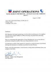 Letter of Appreciation - KJO