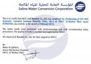 SWCC Valve Overhauling Job