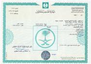 TASNEEF Certificate